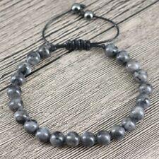 Natural Labradorite & Hematite Beaded Friendship Bracelet Stacking Lucky Beads