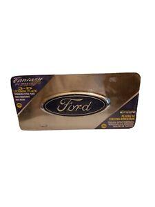 1 BRAND NEW Pilot  Ford Logo 3D Logo Chrome S/S License Plate Frame