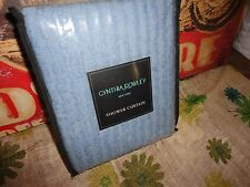 CYNTHIA ROWLEY VINTAGE BLUE CHENILLE FABRIC SHOWER CURTAIN 72 X 72