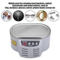 600ML Ultraschall Reiniger Ultraschallgerät Schmuck Brille Metallteile Reinigung