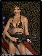 Sexy Sarah Palin Army Bikini Refrigerator Magnet