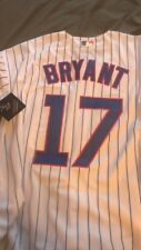 #17 Kris Bryant Men's Chicago Cubs Gold Cool Base Jersey 2xl