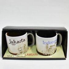 Starbucks Jakarta Indonesia Demi Cup Mugs - Set of Two 3 FL Oz
