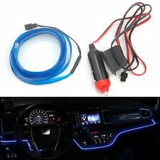 3m 12V LED Blue Cold Light Flexible Neon Wire Lamps Line Strip Lamps For Cars