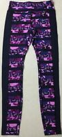 Nike Women's Full Length Printed Training Tights 686040 Purple 513 Size M