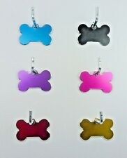 Pet Tags ~ Small Milled Bones ~  Engraved to Order