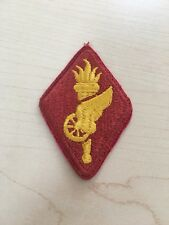 Army Transportation Military Patch with torch winged wheel yellow on red New