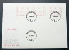 Aland 1984 ATM (Frama Label stamp FDC)