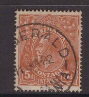 Tasmania FITZGERALD 1922 type 2b postmark rated R by Hardinge
