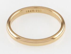 Tiffany & Co. 18k Yellow Gold Band Ring Size 8.5