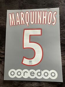 Flocage Officiel Psg Third 2019/2020 Ligue 1 Marquinhos Adulte