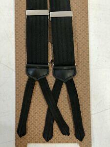 New w Tags Trafalgar Formal Y Back Silk Herringbone Braces Button End No Buttons
