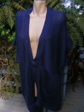 BeMe NAVY Long One Button Cardi NEW SIZE M-18 RRP$59.99 GR8 for Layering