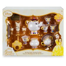 Disney Store Beauty and the Beast ''Be Our Guest'' Singing Tea Cart Play Set NIB