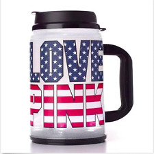 NWT VICTORIA'S SECRET LOVE PINK LIGHT UP TRAVEL MUG AMERICANA CHUG CUP 24 OZ NEW