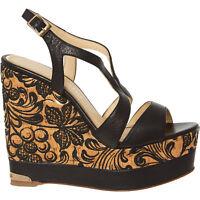 Designer PALOMA BARCELO 'Ophelie' Women's Black Wedges Sandals - size UK 6 7