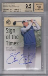 2014 SP Sign of the Times #SOTTSS Steve Stricker BGS 9.5 with 10 AUTO
