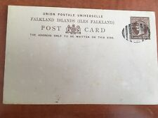 Postal History Falklands Islands UPU Postcard Penny Halfpenny with F1 Cancel