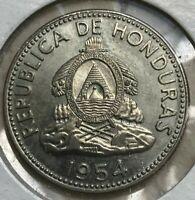 1954 Honduras 10 Centavos - Beautiful Uncirculated