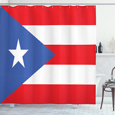 Puerto Rico Cortina de bano Bandera con las rayas de la estrella