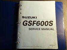 2000-2002 SUZUKI GSF600S SERVICE MANUAL IN BINDER P/N 99500-36102-03E  (522)