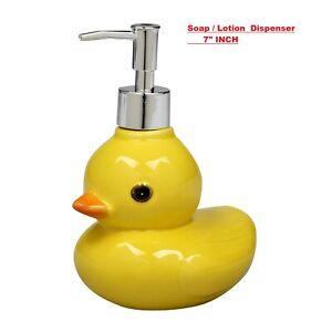 "soap Dispenser kids Bathroom accessory Duck Lotion or soap Dispenser- 7"" inch"