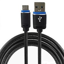 Micro USB 2.0 Kabel - Leder Ladekabel Pc LG L65 Aldi Nord - 3 Meter Schwarz