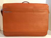 Mandarina Duck Leather Messenger Bag/Shoulder Bag, Saddle Color, Brand New