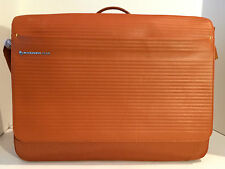 Mandarina Duck Leather Messenger Bag/Shoulder Bag, Saddle Color, Brand New