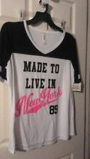 NEW WITH TAGS WOMEN'S 2X FUNNY GRAPHIC TSHIRT BLACK NEW YORK PINK WHITE