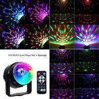Disco Lichteffekt LED Discokugel DJ Party RGB Bühnenbeleuchtung Licht +Remote