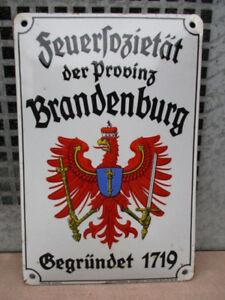 FEUERSOZIETÄT der PROVINZ BRANDENBURG gegr. 1719  Ev.: 44J  um 1935