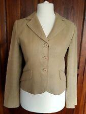 Hobbs Ladies Womens Beige Linen Lined Jacket Smart Formal Occasion Size 10