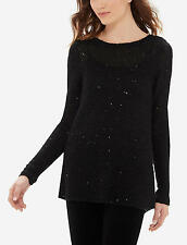 The Limited Sequin Shine Sweater, Black, size XL, NWT