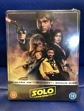 NEW SOLD OUT SOLO A STAR WARS STORY 4K ULTRA HD STEELBOOK BLU-RAY 3 DISC SET