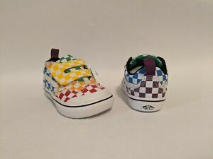 Vans New ComfyCush New Skool V Checkerboard Multi/True Vault Toddler Size USA 5