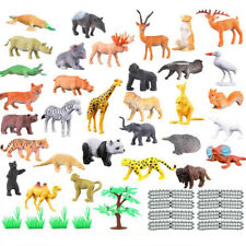 53 Pcs/Set Small Figures Plastic Farm World Zoo Wild Animals Model Action Toys