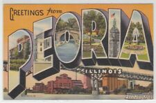 [66365] 1948 Large Letter Postcard Greetings from Peoria, Illinois
