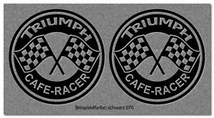 2 Aufkleber Triumph Retro Cafe Racer Motorrad Bike Bobber Farbwahl TR026