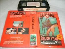Vhs *BLOOD FEAST(1963)* RARE Pre Cert - Australian Palace Explosive Issue Horror