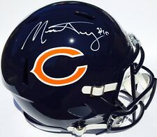 MITCHELL TRUBISKY #10 SIGNED CHICAGO BEARS REPLICA SPEED FOOTBALL HELMET w/COA