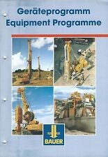 Equipment Brochure - Bauer Drill Rig et al Product Line Overview c2002 (E3457)