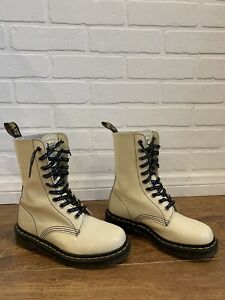 Dr Martens Marc Jacobs 1490MJ Tall Hightop Patent Leather Boots Women's sz 5 US