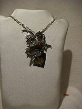Alchemy Gothic pendant necklace in pewter metal  Aethera draconem  dragon
