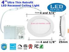 4'' 9W 120V 3000K Recessed Ultra Thin Ceiling LED Light Retrofit