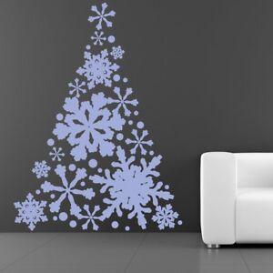 Albero di Natale del fiocco di neve Adesivo Murale festivo Adesivo Da Parete