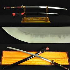 Clay Tempered Full Tang Hazuya Polish Blade Japanese Samurai Katana Sword Sharp