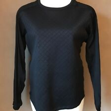 Trouve Women's Top Black Quilted Front Contrast Sleeves XL