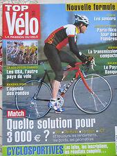 TOP VELO N°62: MAI 2002: 3000€ BH DEROSA DYNATEK JCF - PARIS NICE - PAYS BASQUE