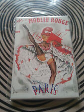 PARIS / GIRL AND MOULIN ROUGE  / FRENCH FRIDGE MAGNET / NEW FRANCE